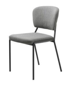 Furniria 23926 Dizajnová jedálenská stolička Alissa svetlosivá