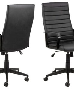 Dkton Kancelárska stolička Triston čierna koženka