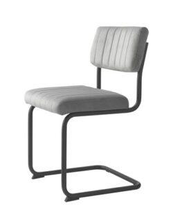 Furniria 23934 Konzolová stolička Javon sivý zamat