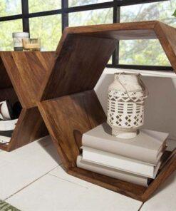 LuxD Dizajnový regál Bethany - set 2 kusov