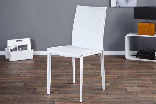 LuxD 16199 Stolička Neapol biela koža