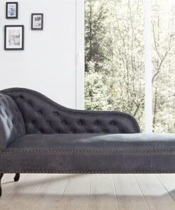 LuxD Leňoška Chesterfield sivá Antik