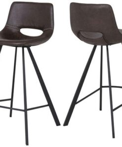 Catalent Barová stolička Izabella 87 cm / tmavo hnedá