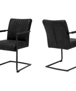 Catalent 19360 Dizajnová stolička Karla / čierna - s opierkami