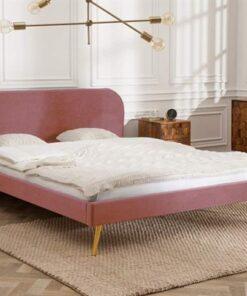 LuxD Manželská posteľ Lena 140 x 200 cm - staroružový zamat