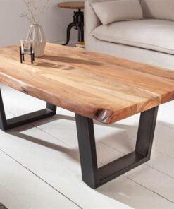 LuxD Dizajnový konferenčný stolík Massive 110cm akácia