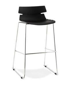 DesignS Moderná barová stolička Brayden čierna