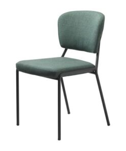 Furniria 23925 Dizajnová jedálenská stolička Alissa zelená