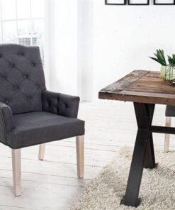 LuxD 17805 Luxusná stolička Queen antracit