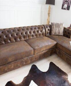 LuxD Rohová sedačka Chesterfield Vintage pravá