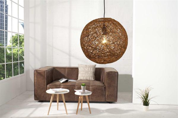 LuxD 16670 Lampa Wrap hnedá 45cm závesné svietidlo