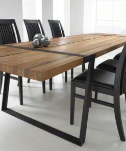 Catalent Jedálenský stôl Annie 290 - 410cm / čierna-prírodná