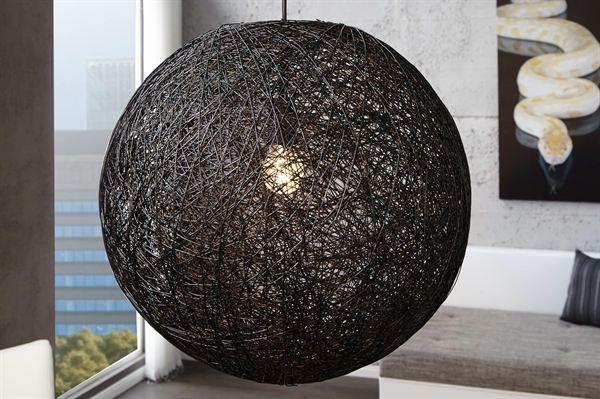LuxD 16677 Lampa Wrap čierna 60cm závesné svietidlo