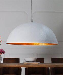 LuxD 17524 Lampa Atelier bielo-zlatá 50cm závesné svietidlo
