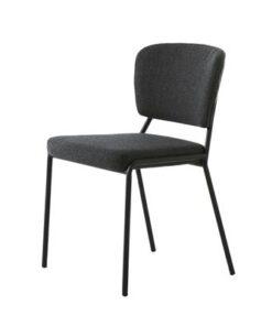 Furniria 23924 Dizajnová jedálenská stolička Alissa sivá