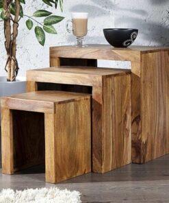 LuxD Set 3 stolíkov Santana