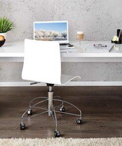 LuxD Kancelársky stôl Barter 120cm biely vysoký lesk 120 cm x 75 cm
