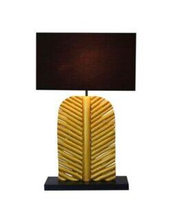 LuxD 24286 Dizajnová stolná lampa Lance 63 cm čierno zlatá - longan