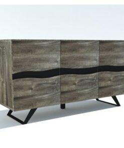 LuxD Dizajnová komoda Evolution Grey 160 cm akácia