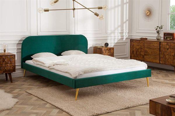 LuxD Manželská posteľ Lena 160 x 200 cm - zelený zamat