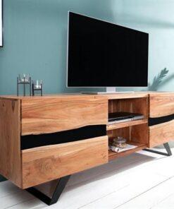 LuxD Luxusný TV stolík Argentinas z masívu