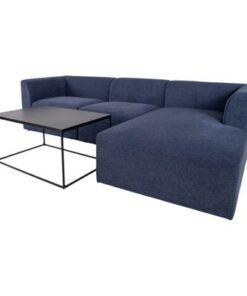 Norddan Dizajnová rohová sedačka Anahi modrá pravá