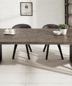 LuxD Jedálenský stôl Thunder 160 sivé mango
