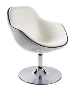 DesignS Kreslo Fastchair bielo-čierne