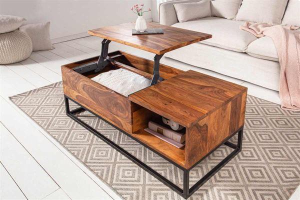 LuxD Dizajnový konferenčný stolík Timber Function 110 cm sheesham