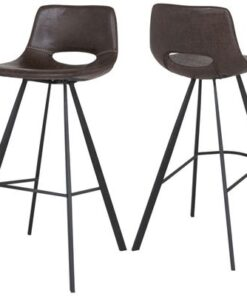 Catalent Barová stolička Izabella 106 cm / tmavo hnedá