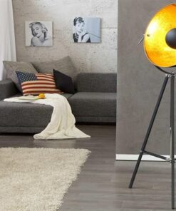 LuxD 17107 Stojanová lampa STAGE čierno zlatá Stojanové svietidlo