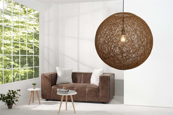 LuxD 16671 Lampa Wrap hnedá 60cm závesné svietidlo