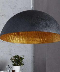 LuxD 16710 Lampa Glimer 50cm čierno-zlatá závesné svietidlo