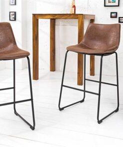 LuxD Dizajnová barová stolička Alba hnedá