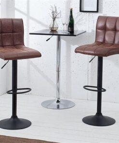 LuxD Barová stolička Modern vintage hnedá