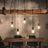 LuxD 23736 Dizajnové závesné svetlo Shark 152 cm recyklované drevo závesné svietidlo
