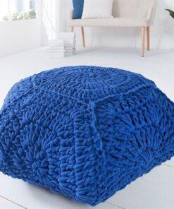 LuxD Dizajnová taburetka Lilly II / tmavo modrá
