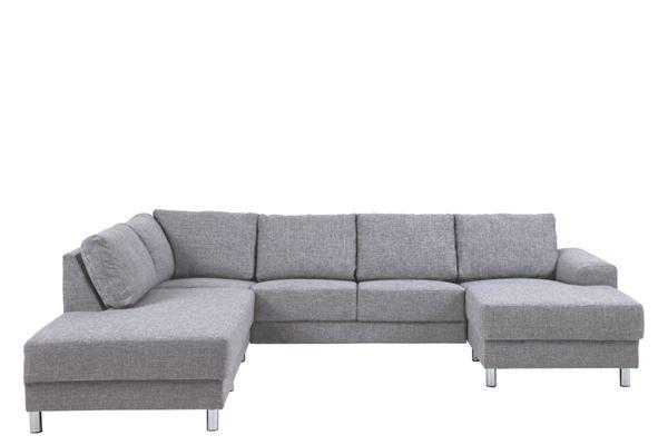 Dkton Dizajnová sedacia súprava Nim svetlošedá 286 cm L