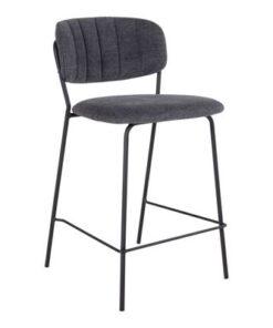 Norddan Dizajnová barová stolička Rosalie tmavosivá