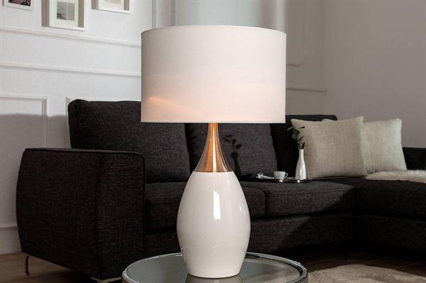 LuxD 18131 Stolná lampa Aaria 60 cm biela
