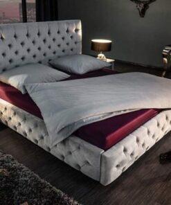 LuxD Dizajnová posteľ Laney 160x200 cm sivý zamat
