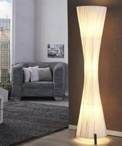 LuxD 17052 Stojanová lampa SPIRAL biela Stojanové svietidlo