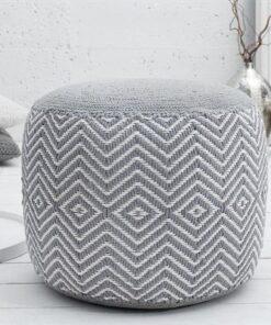 LuxD Dizajnová taburetka Orient / biela - šedá
