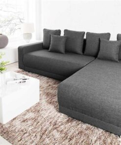 LuxD Dizajnová rohová sedačka Roger 255 cm sivá