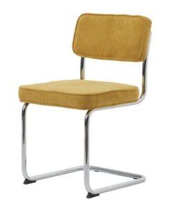 Furniria 24012 Dizajnová konzolová stolička Denise žltá