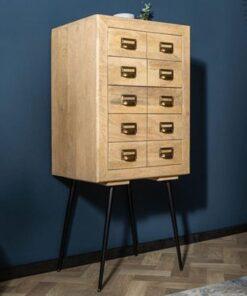 LuxD Dizajnová zásuvková komoda Marilyn 116 cm mango