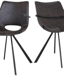 Catalent 19874 Dizajnová stolička Izabella s opierkami /sivo čierna
