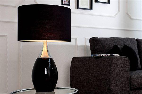 LuxD 18132 Stolná lampa Aaria 60 cm čierna