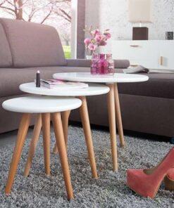 LuxD Set 3 odkladacích stolíkov Sweden
