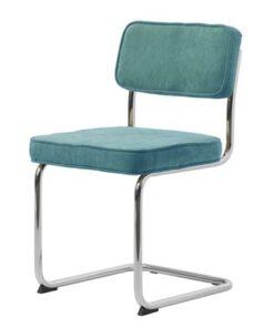 Furniria 24014 Dizajnová konzolová stolička Denise modrá